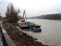 Réfection de la berge de Seine sur la RD39